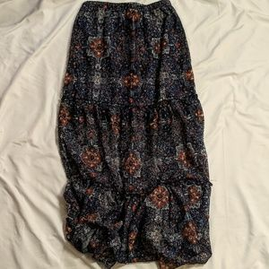 Xhilaration Floral Maxi Skirt
